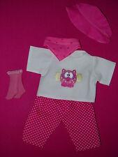 Für my first Baby Annabell Puppe 36cm Kleidung Puppenkleidung Shirt Hose  Hut 5T