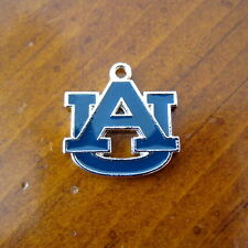 AUBURN UNIVERSITY TIGERS BLUE ENAMEL SILVER AU LOGO CHARM bead bracelet jewelry