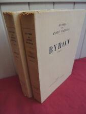 BYRON  André Maurois exemplaires numérotés sur velin 2/2 vols