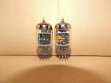 2 excellent matched ge 3 mica black plate  D getter 5751 / 12ax7 tubes  # E18