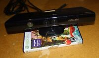 XBOX 360 KINECT SENSOR BUNDLE W/ KINECT ADVENTURES GAME COMPLETE FREE SHIPPING