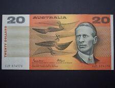 1985 Australian Note $20 Twenty Dollars Johnston Fraser R409bF EJY FIRST PREFIX