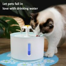 Led Electric Usb Dog Pet Drinker Feeder Automatic Pet Cat Water Fountain Bowl