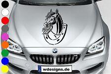 WD Autoaufkleber PFERD PONY HUFEISEN Tuning Aufkleber Sticker Decal Motorhaube