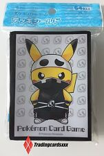 ♦Pokémon♦ 64 Protèges Cartes/Sleeves STANDARD Pikachu Poncho Team Skull