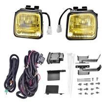 Fits 96-98 Honda Civic EK JDM Yellow Fog Lights Lamps Wire Switch Kit Set