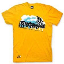 Adults Tour De France 'Col Du Tourmalet' - Yellow Cotton Cycling T-Shirt - Small
