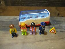 Playmobile airport shuttle bus & accessories not complete 123