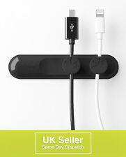 Cable Clip Holder ordenado organizador magnético para Escritorio Cables Plomo Cable USB en negro