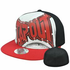 Tapout Cage Fighting UFC MMA Flex Fit Stretch Small Medium Flat Bill Cap Hat