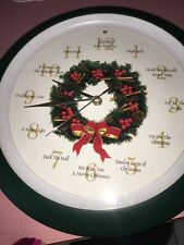 Christmas Talking Wall Mount Clock 12 days of Christmas