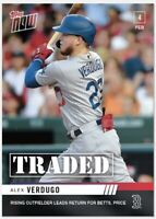 2020 TOPPS NOW OS-67 ALEX VERDUGO Rising OF to Red Sox in Betts Trade PR: 240