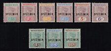 Northern Nigeria 1900 Queen Victoria set optd. Specimen, MH (SG1s/9s)