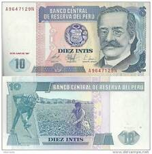 Peru - 10 Intis - UNC currency note - 1987 issue
