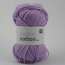 Rico Creative Cotton Aran  - 100% Cotton Knitting & Crochet Yarn - Violet