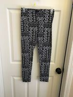 Women's Rue 21 Pant Cozy Lounge Leggings Tribal Black And White Pattern Sz Small