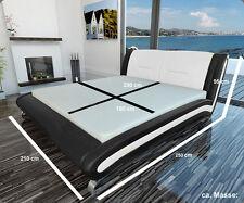 Wasserbett Bett  Lederbett Polsterbett mit Matratze  Neu SENEGAL Betten Komplett