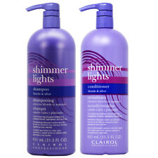 Clairol Shimmer Lights Shampoo + Conditioner 31.5oz DUO SET with Free Nail File