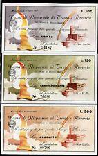 CASSA RISPARMIO TRENTO E ROVERETO 1977 SERIE 6 PEZZI/CASTLE/PAPER MONEY FDS/UNC