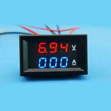 DC 100V/500A Ammeter Voltmeter Digital LED Amp Volt tester Meter V/A 12V 24V CAR