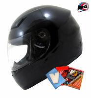 MT Imola Black Motorbike Crash Helmet Full Face Scooter,Motorcycle, Bike, Lid