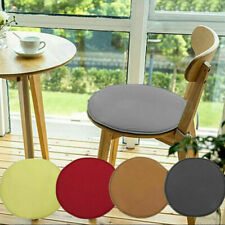 """2Pcs -15"""" Round Chair Seat Pads Outdoor Tie On Office Garden Patio Chair Cushion"""