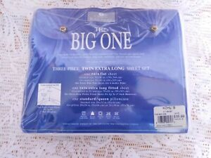 The Big One White 3 Piece Sheet Set Twin New 250 Thread Count ~FREE SHIP~