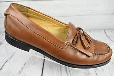 Chaps Brown Leather Penny Loafers Shoes with Tassels Mens Size 12 M