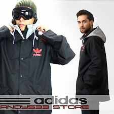 Adidas Originals Men Black Jacket Hoodie Coat Windstoper WaterProof Ski Winter L