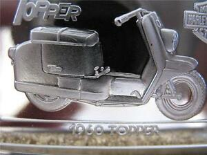 1.4-OZ.999  SILVER 1960 TOPPER AUTOMATIC SCOOTAWAY DR. HARLEY 75TH STURGIS+GOLD.