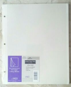 Hallmark Refill AR1023 Self Adhesive 8 White Pages for Large 3 Ring Albums