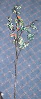 """TEAL 36"""" GLITTER LEAF SPRAY 08-80199 Katherine's Collection CHRISTMAS Pick NEW"""