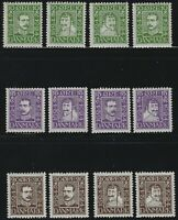 Denmark - 1924 - Scott # 164 thru 175 - Complete Set - Mint Never Hinged