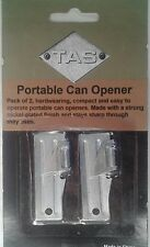 ARMY CAN OPENER X2 PACK MILITARY STYLE PORTABLE NICKEL PLATED FOR STRENGTH