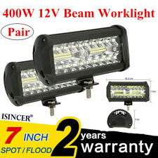 NEW 2x 400W 7'' LED Work Light Bar Spot Flood Beams Combo For Off-road SUV Truck