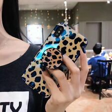 Leopard Women Stand Laser Soft Holder Case Cover for Iphone X XS Max 6S 7 8 plus