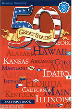 Reading Discovery 50 GREAT STATES Fast-Fact Book Reading Level 3 Grades 2-4