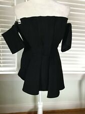 C/Meo Collective gorgeous black off-the-shoulder dressy top, Size S, NEW WT