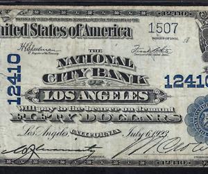 CA 1902 $50  ♚♚LOS ANGELES, CALIFORNIA♚♚   PMG VF 25