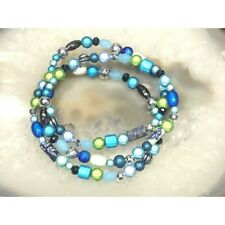 """Miracle glow Bead  Stretch Anklets Handmade 9.5"""""""