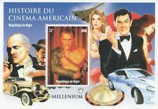 KIRK Douglas-SPARTACUS James Bond CINEMA MARLON BRANDO FRANCOBOLLO SHEETLET Gomma integra, non linguellato