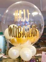Personalised Balloon Filled Helium Inflated Balloon for Eid, Umrah, Hajj Mubarak