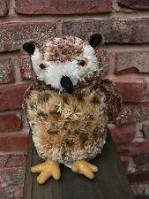 "AURORA brown GREAT HORNED OWL 7""  Plush Stuffed Animal, MINT"