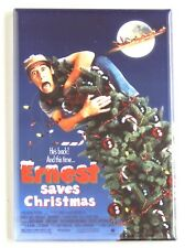 Ernest Saves Christmas FRIDGE MAGNET (2.5 x 3.5 inches) movie poster jim varney