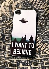 X-FILES IPHONE 4 FOURTH GENERATION I WANT TO BELIEVE CELL PHONE CASE Duchovny