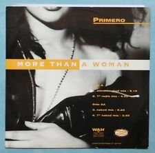 """[BEE GEES] PRIMERO ~ MORE THAN A WOMAN ~ 1993 UK 4-TRACK 12"""" SINGLE + P/S"""