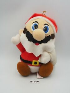 "Mario B1908 Santa Super Mario Bros World Christmas Banpresto 1993 Plush 6"" Japan"