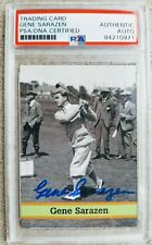 Gene Sarazen PSA/DNA Certified Autographed FAX PAX Card