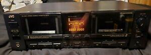 Vintage JVC TD-W901 TDW901 Dual Stereo Cassette Deck Tape Player Recorder