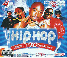 HIP HOP 90'S CLASSICS 3 CD MIXTAPE + DVD MUSIC VIDEO 4 DISC SET 2PAC BIGGIE JAYZ